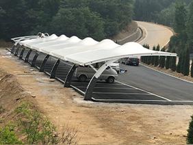 景区膜结构停车棚