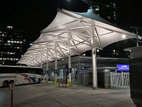 公交车站膜结构停车棚
