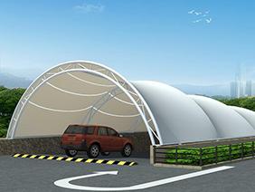 膜结构出入口车库