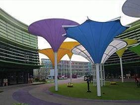园区艺术景观膜结构