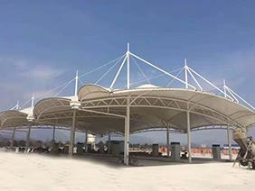 膜结构大棚加油站